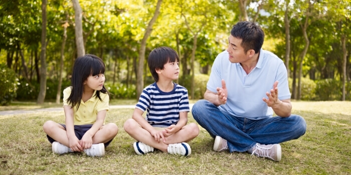 have a conversation with your children